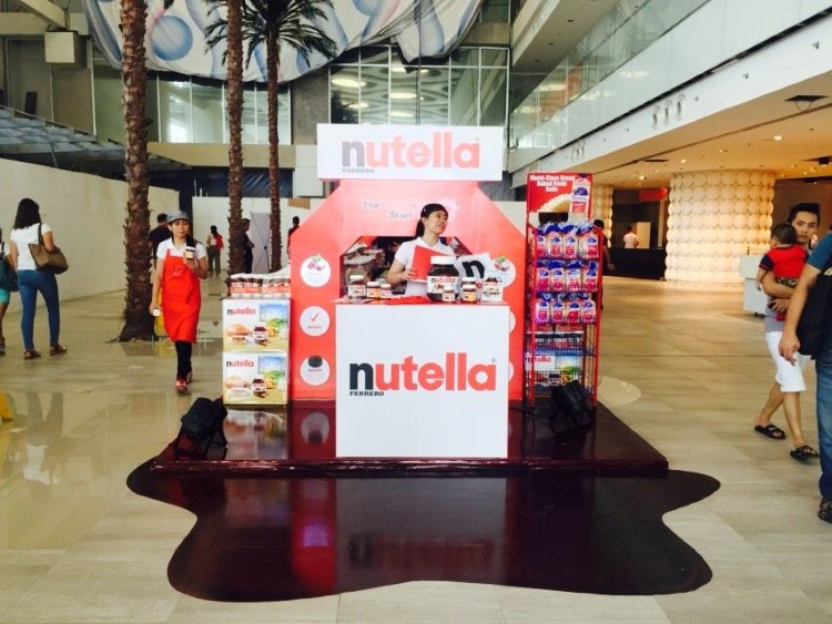 Come to the Nutella Pop-Up Store at Landmark, Trinoma and go (hazel) NUTS!