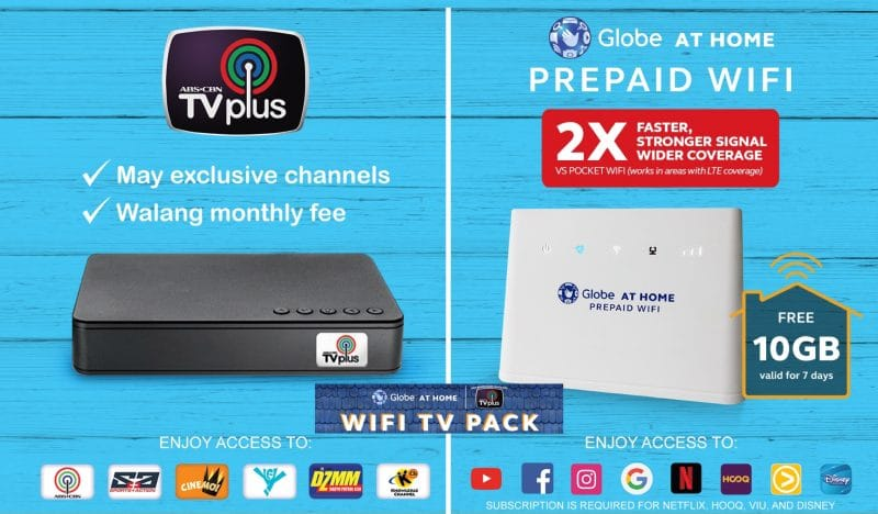 The Globe At Home WiFi TV Pack – Complete your entertainment experience!