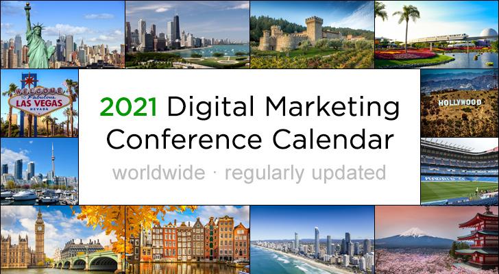 2019 Digital Marketing Events Calendar