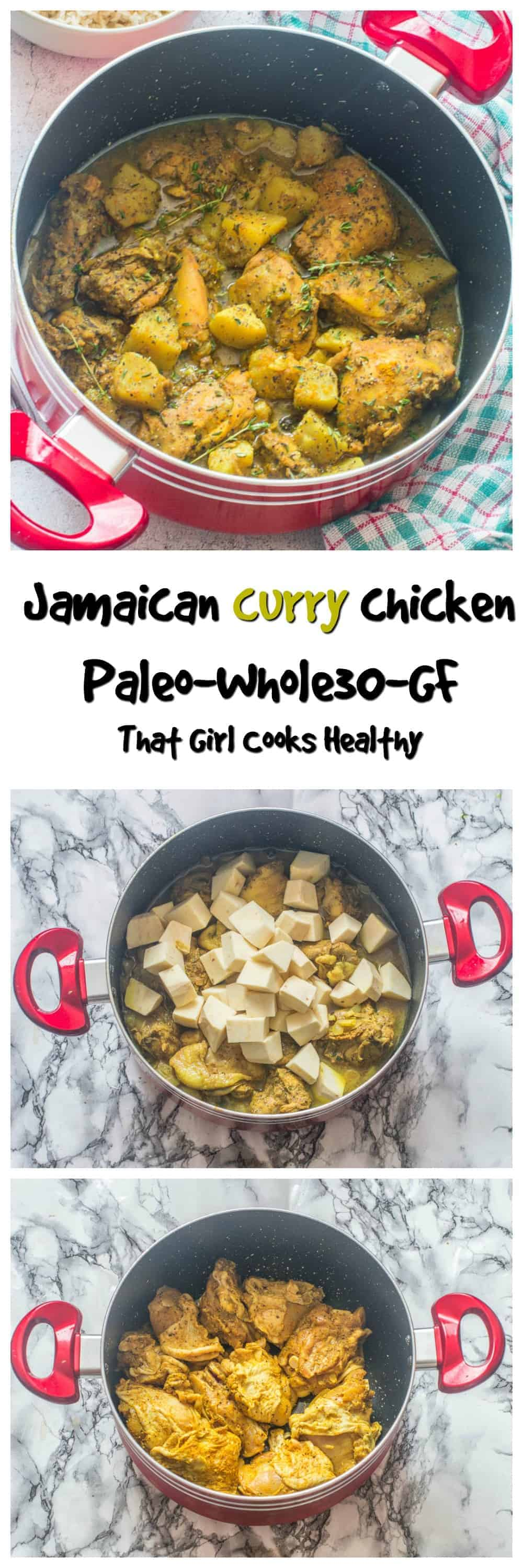 Jamaiacan curry chicken is delicious, perfect Caribbean cuisine that is filling and family friendly