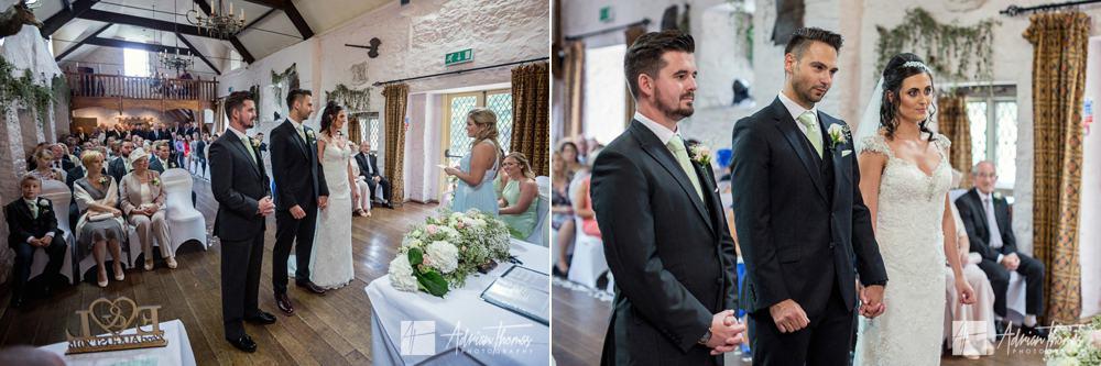 wedding ceremony commences.