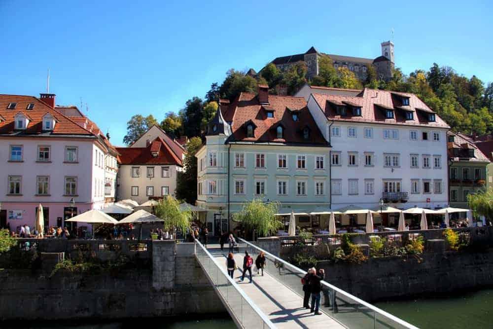 ljubljana old town bridge canals slovenia beautiful places
