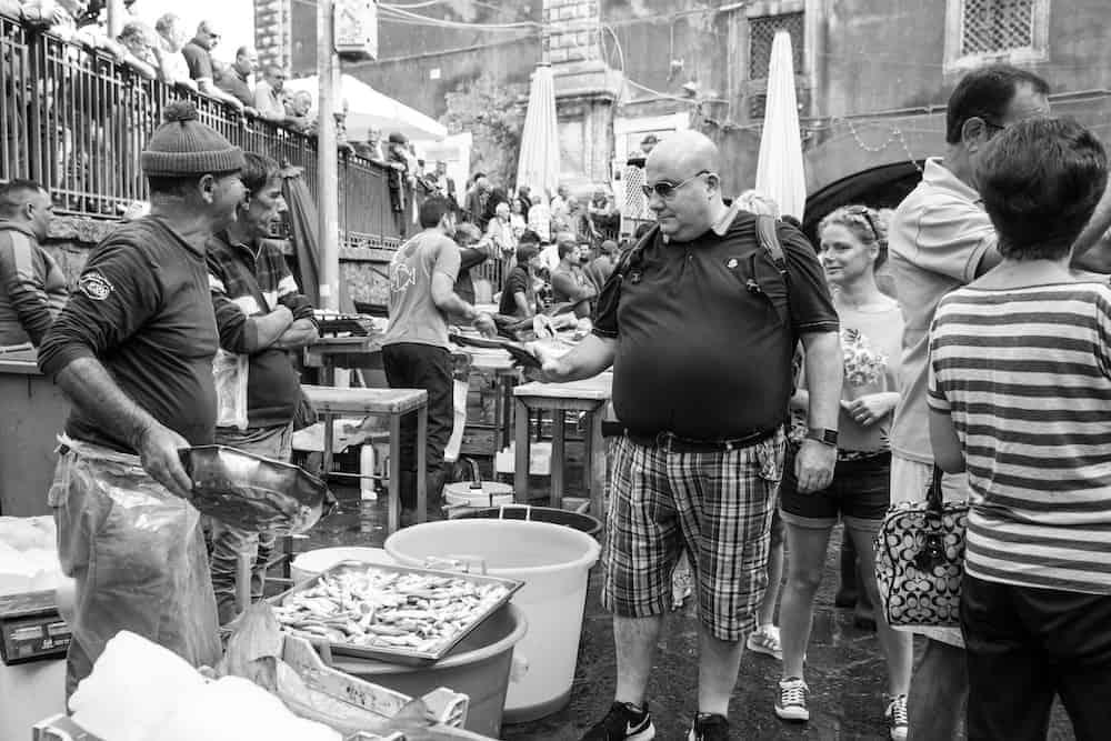 the famous fish market of Catania