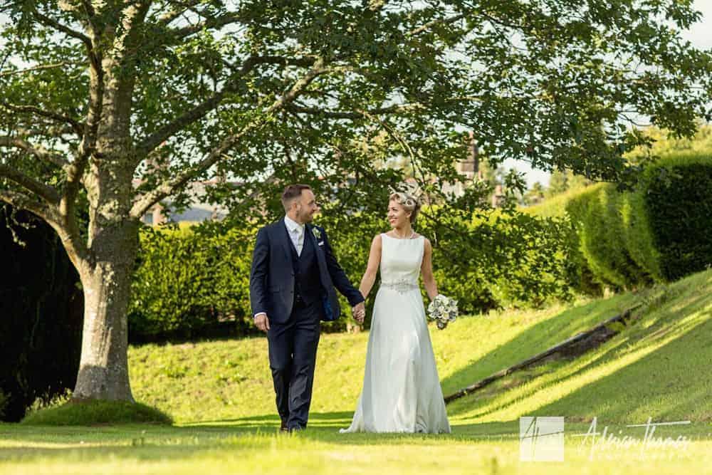 Bride and groom at Buckland Hall wedding venue