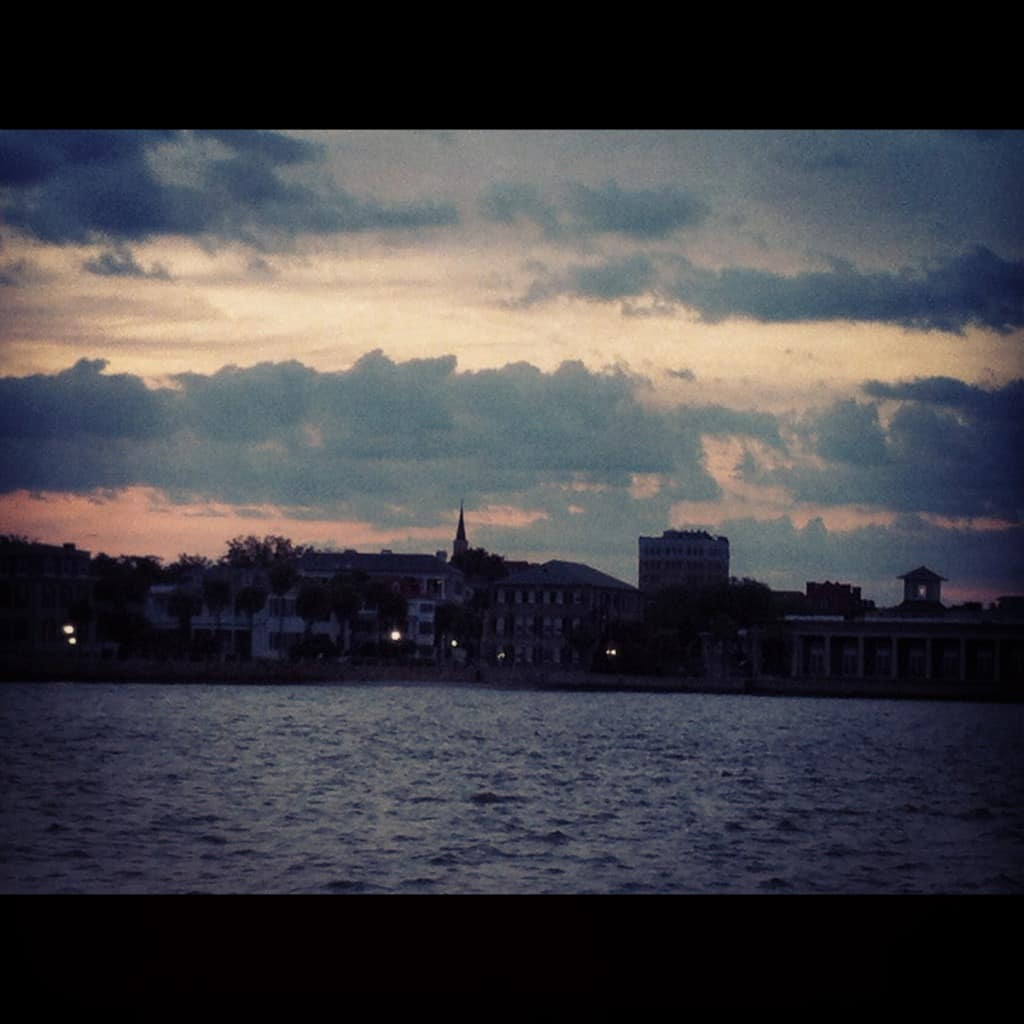 Sunset over the battery. Charleston ghost tours
