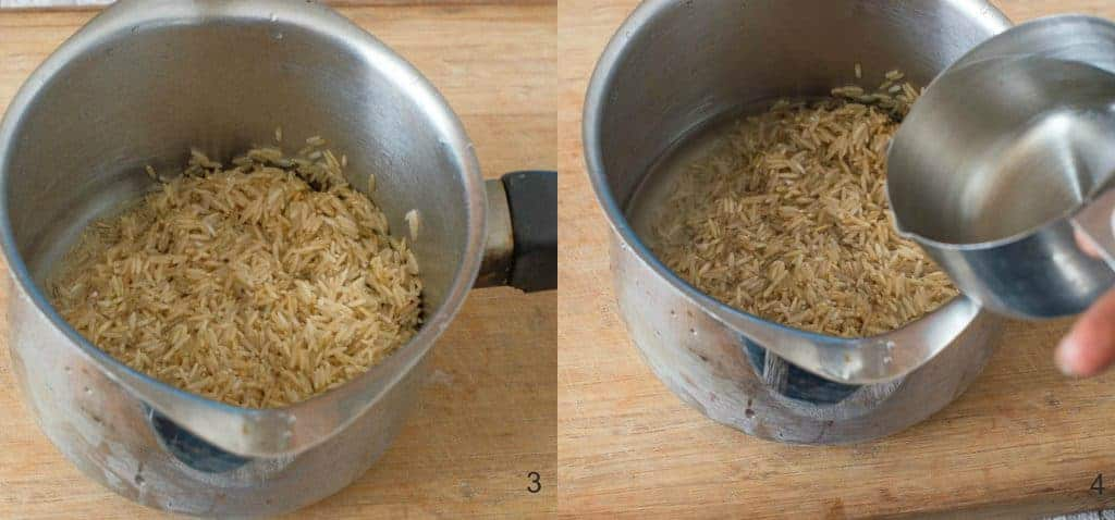 How to cook brown rice perfectly steps 3-4