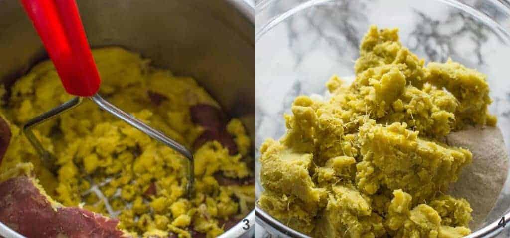 Steps 3-4 mashing the potatoes
