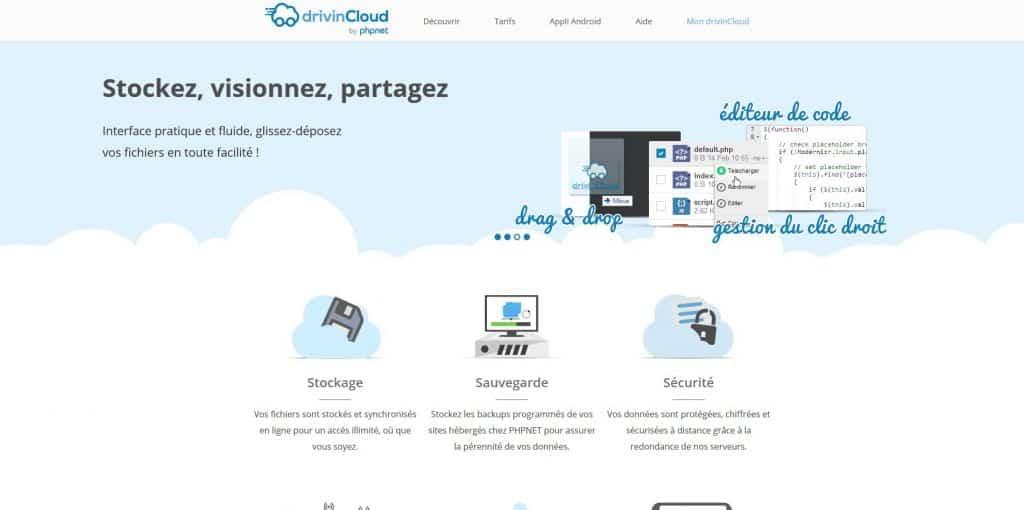 Offre DrivinCloud proposée par PHPNET.org