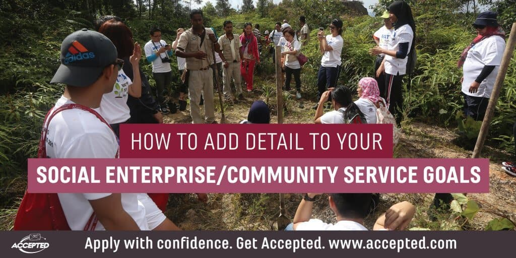 How to add detail to your social enterprise community service goals
