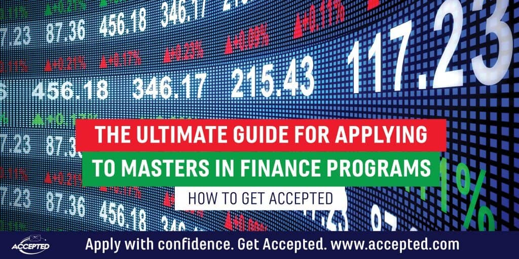 The ultimate guide for applying to Masters in Finance programs