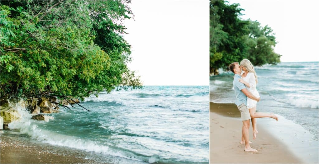 romantic pictures for engagement session in Chicago suburbs