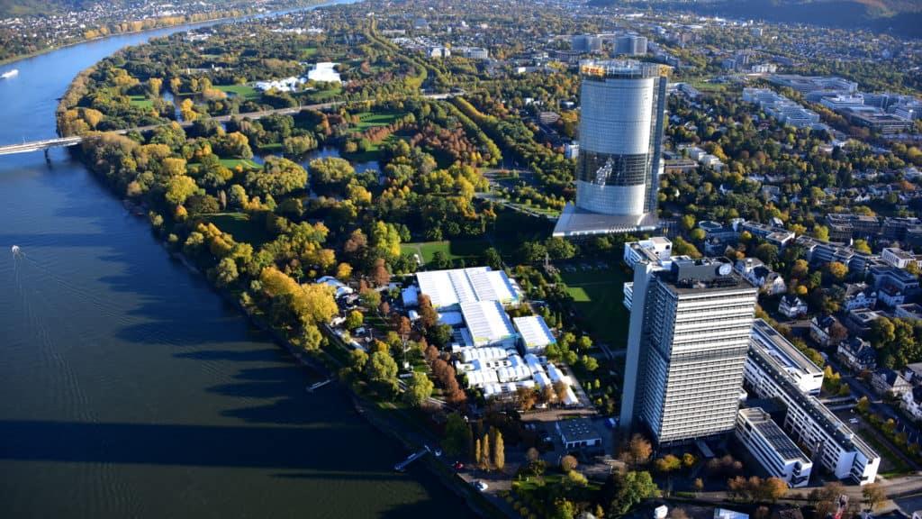 Luftaufnahme von Bonn 2017