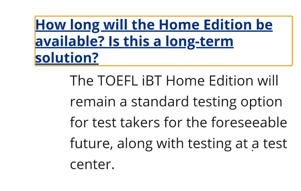 TOEFL Home Edition