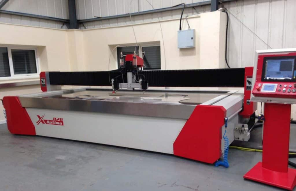 Photo of 4m by 2m water jet machine for Hopwood Gears