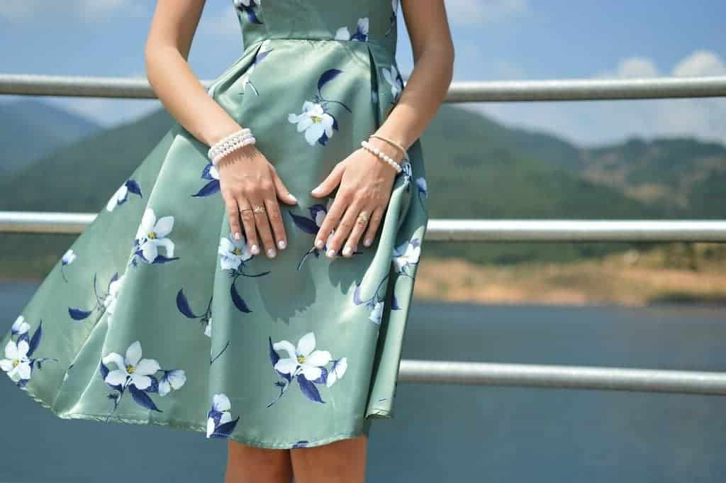 Clothes like this breezy dress are ideal to pack for summer vacation.