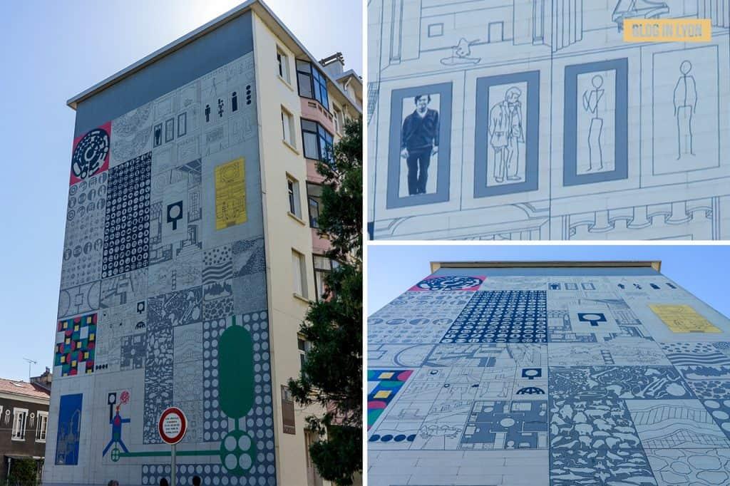 Visiter Lyon - Fresques et murs peints - Cité Tony Garnier | Blog In Lyon