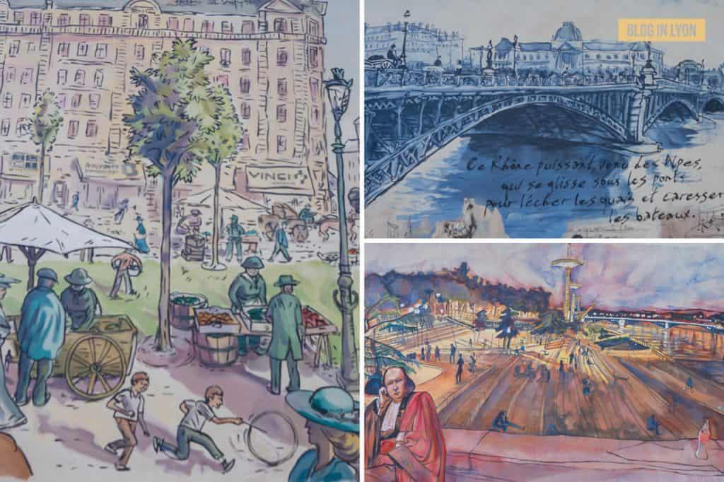 Fresques et murs peints - Rive Gauche - Fresque du Centenaire   Blog In Lyon