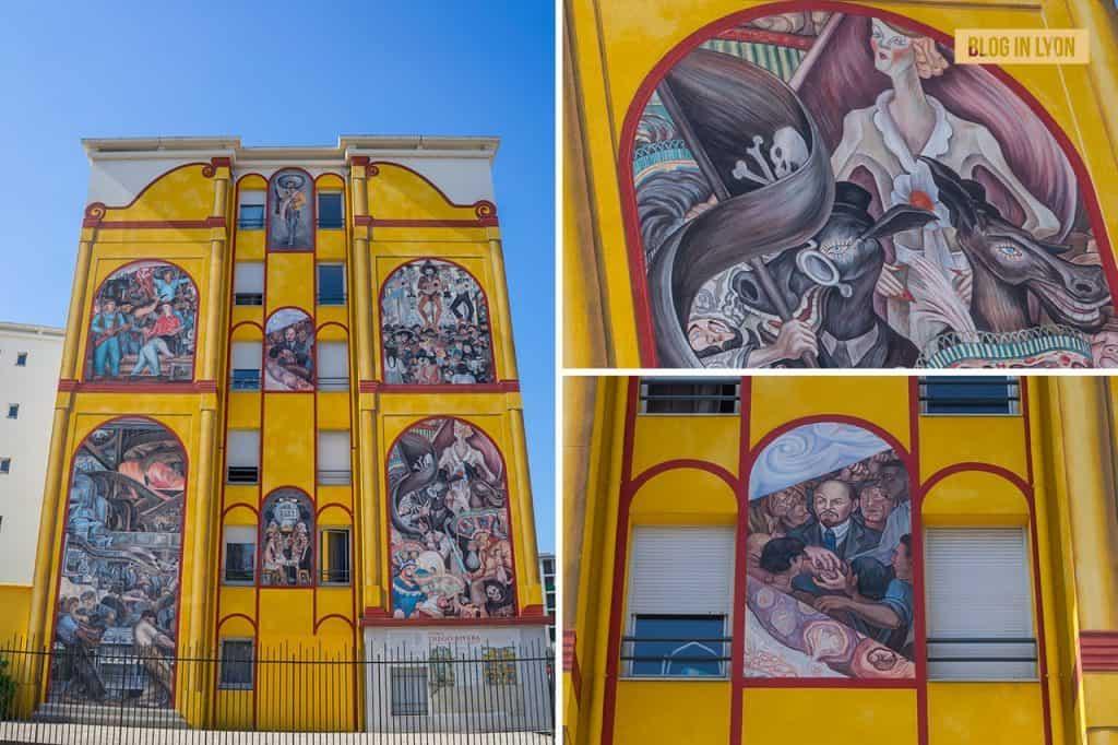 Fresque Diego Rivera - Top 15 des plus beaux murs peints de Lyon   Blog In Lyon