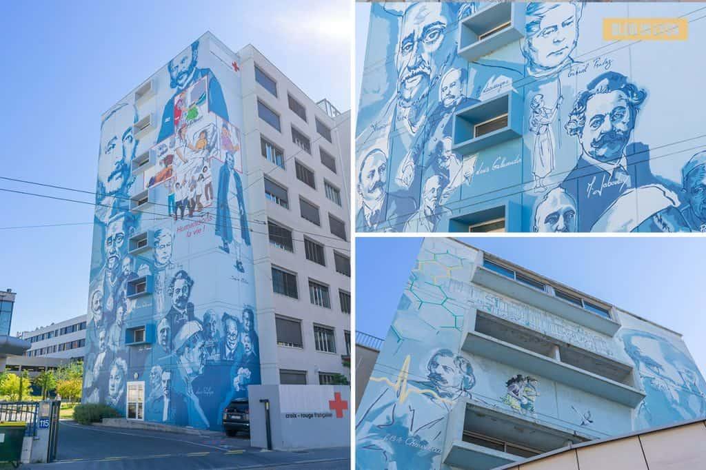 Fresque Lyon, la santé, la vie - Top 15 des plus beaux murs peints de Lyon   Blog In Lyon
