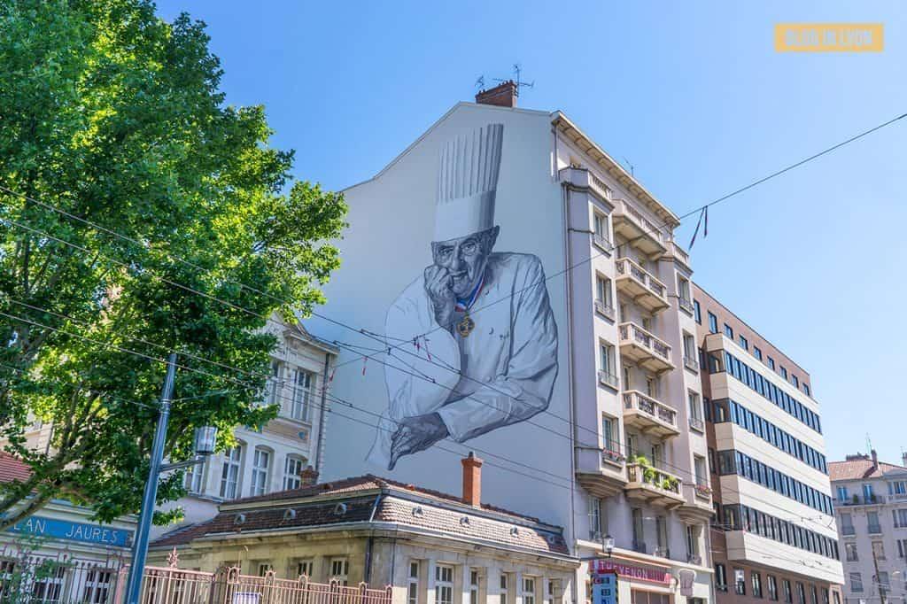 Fresque Paul Bocuse - Top 15 des plus beaux murs peints de Lyon   Blog In Lyon