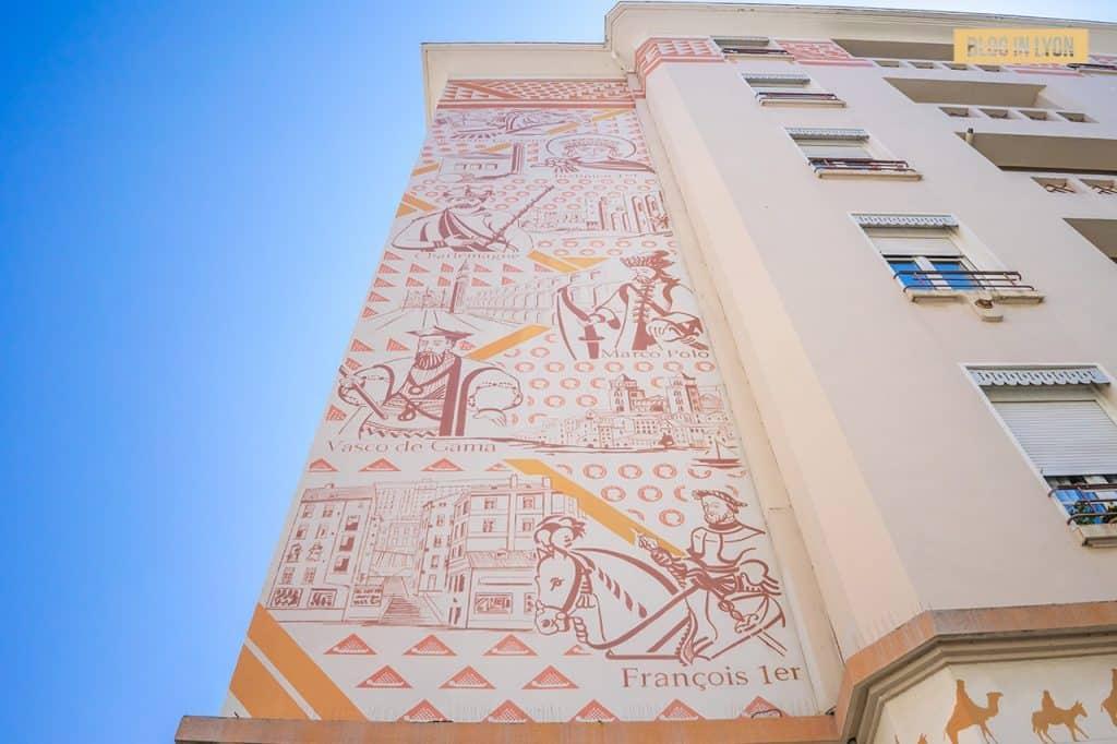 Fresque Porte de la Soie - Top 15 des plus beaux murs peints de Lyon   Blog In Lyon