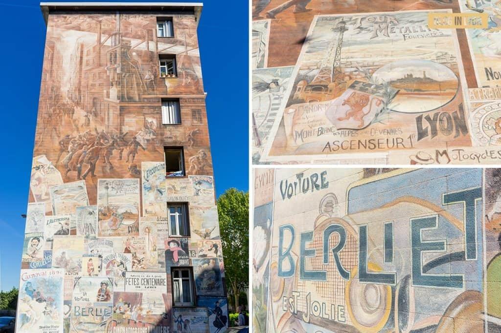 Une cité industrielle - Mur peint Lyon   Blog In Lyon