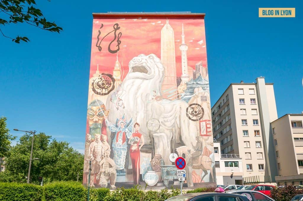 Fresque Shanghaï - Mur peint Lyon   Blog In Lyon