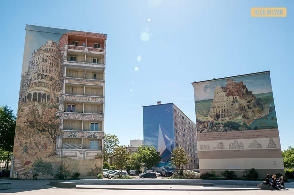 Fresque Tour de Babel - Mur peint Lyon   Blog In Lyon