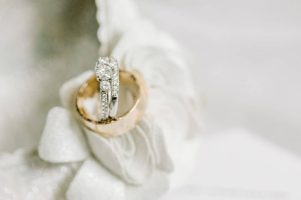 wedding rings closeup