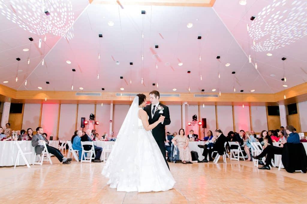 wide shot of first dance of spring danand house wedding captured by chicago most popular wedding photographer bozena voytko