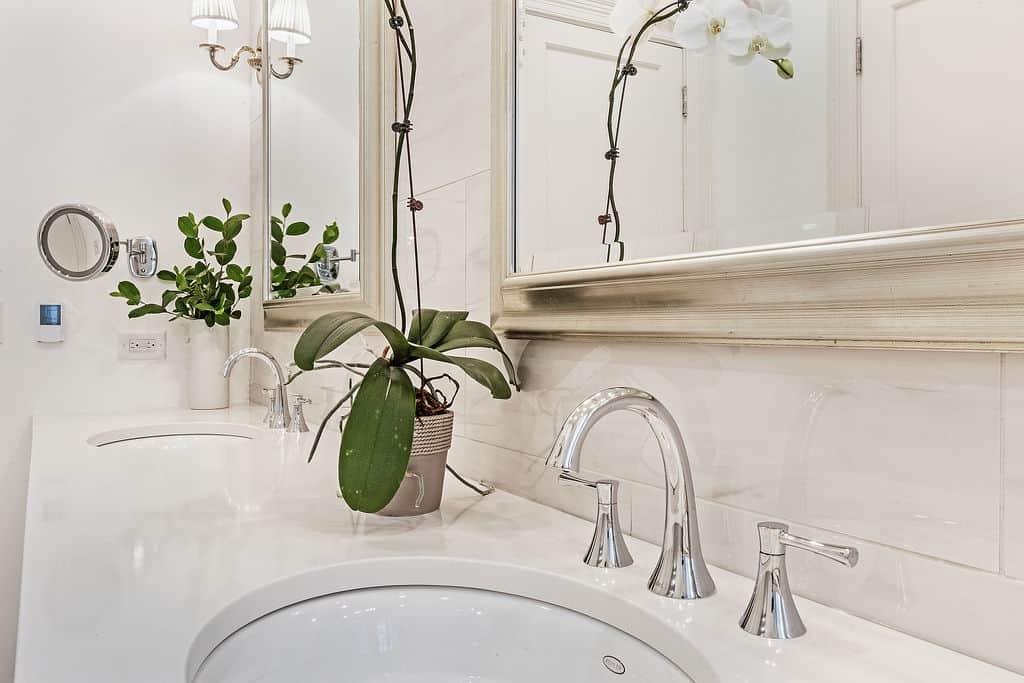master bathroom double sink interior photography by bozena voytko