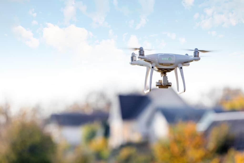 drone in yard