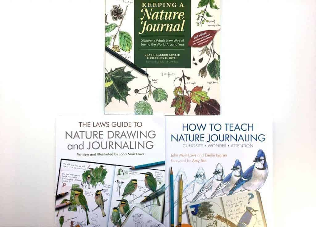 Nature Journaling Books by Clare Walker Leslie and John Muir Laws for Montessori Primary Curriculum