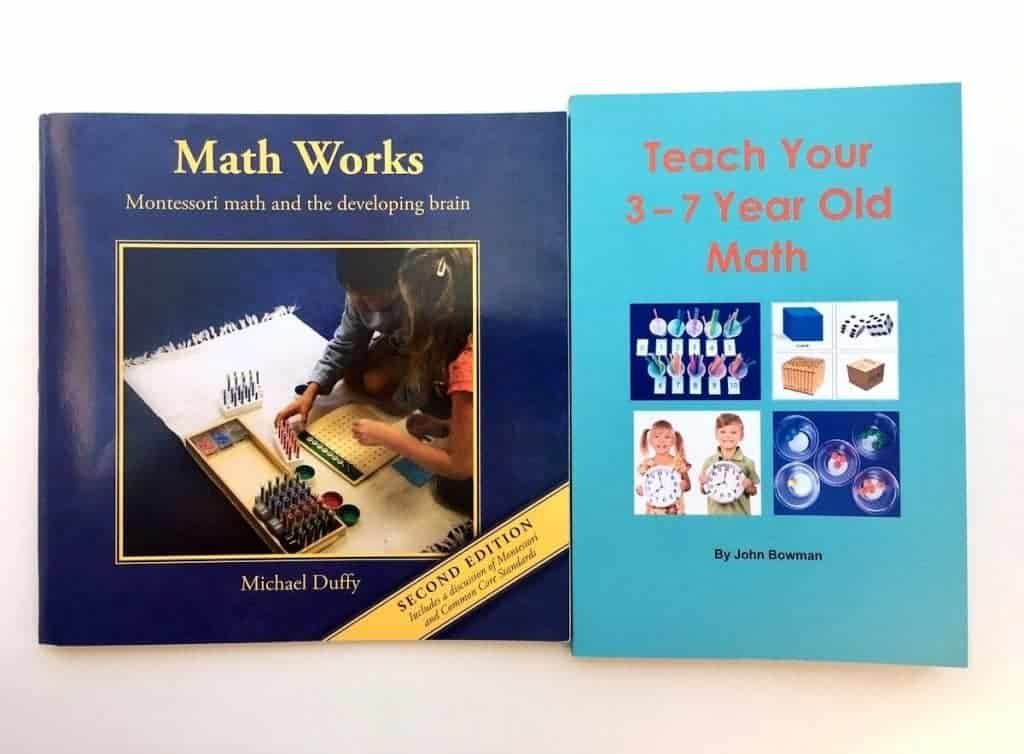 Math Works and Teach Your 3-7 Year Old Math Montessori Primary Curriculum Books for Math