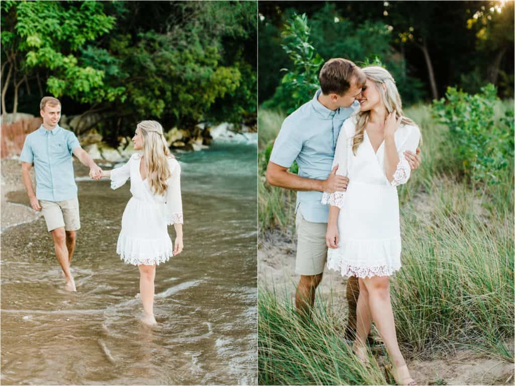 romantic engagement session photography in Chicago