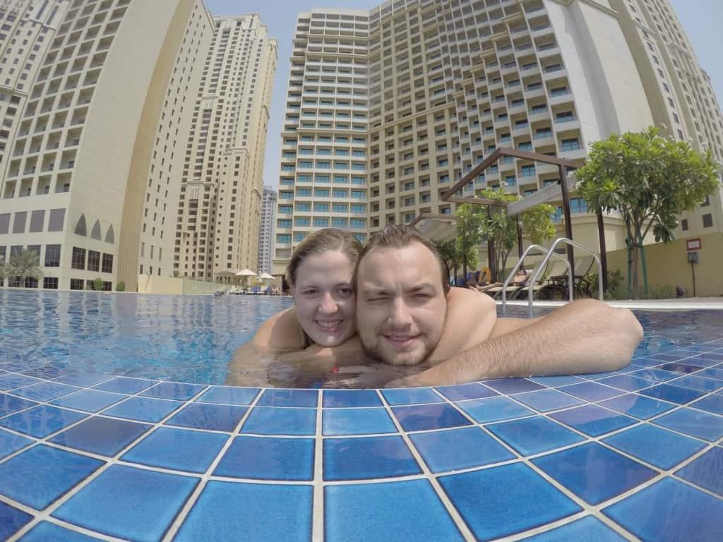 Having fun in Dubai