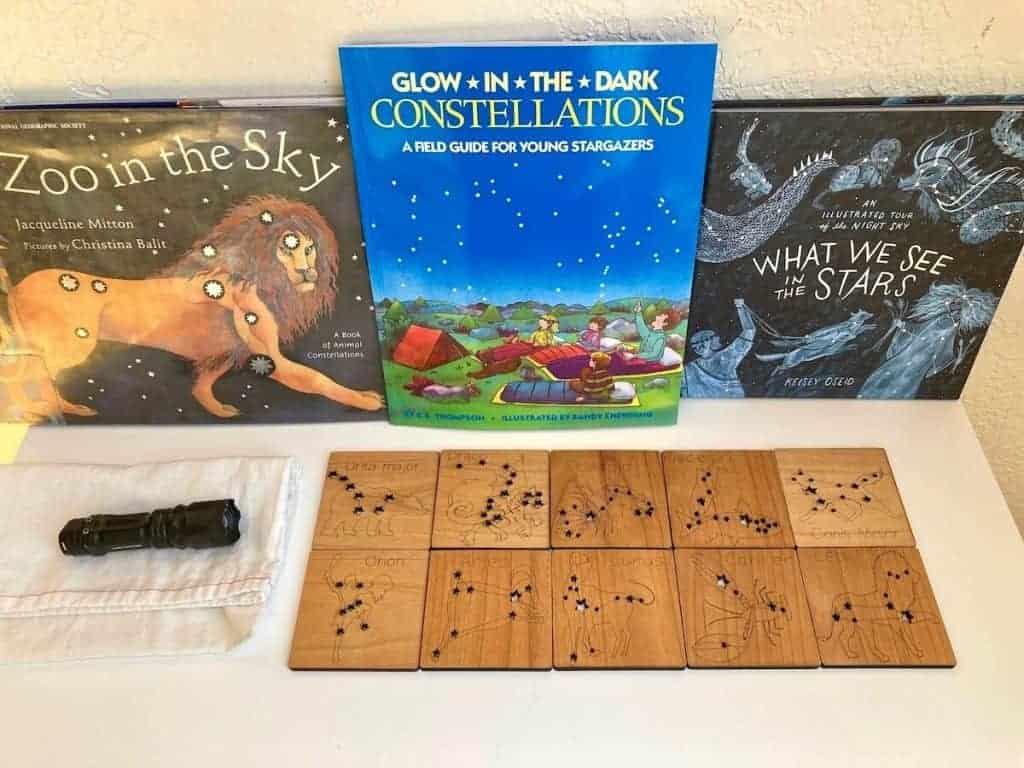 Mirus Toys Constellation Tiles, Flashlight, and Constellation Books