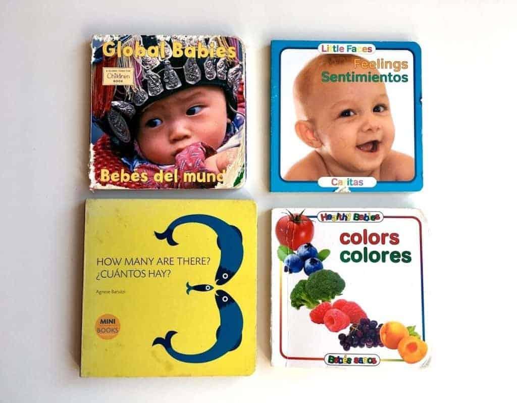 Montessori-friendly Bilingual Spanish-English Board Books