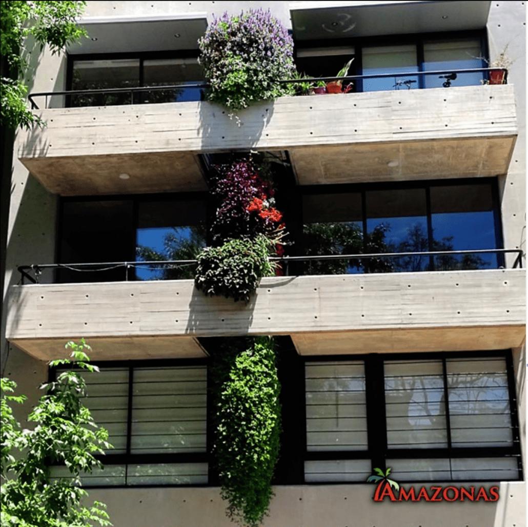 jardín vertical edificio