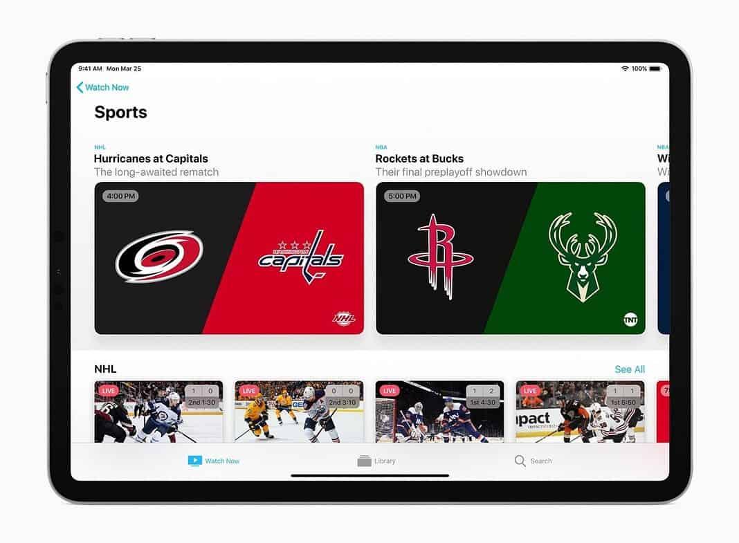 Apple TV app iPad tv plus sports