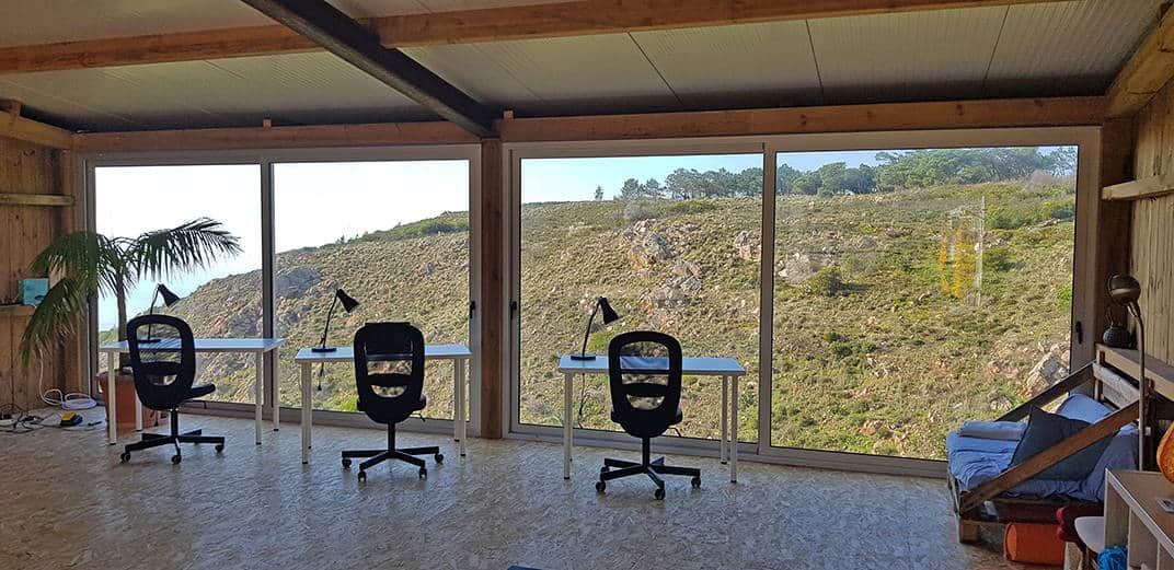 cowork space with nature seaview