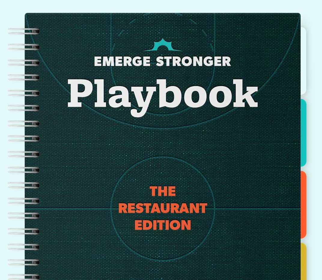 Thanx Emerge Stronger Playbook: Restaurant Edition mockup tall