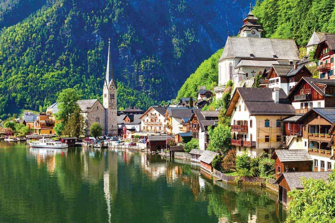 Деревня Гальштат в Австрии