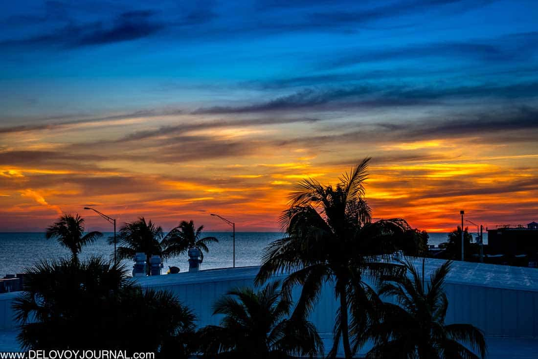 Закат на островах Ки-Уэст