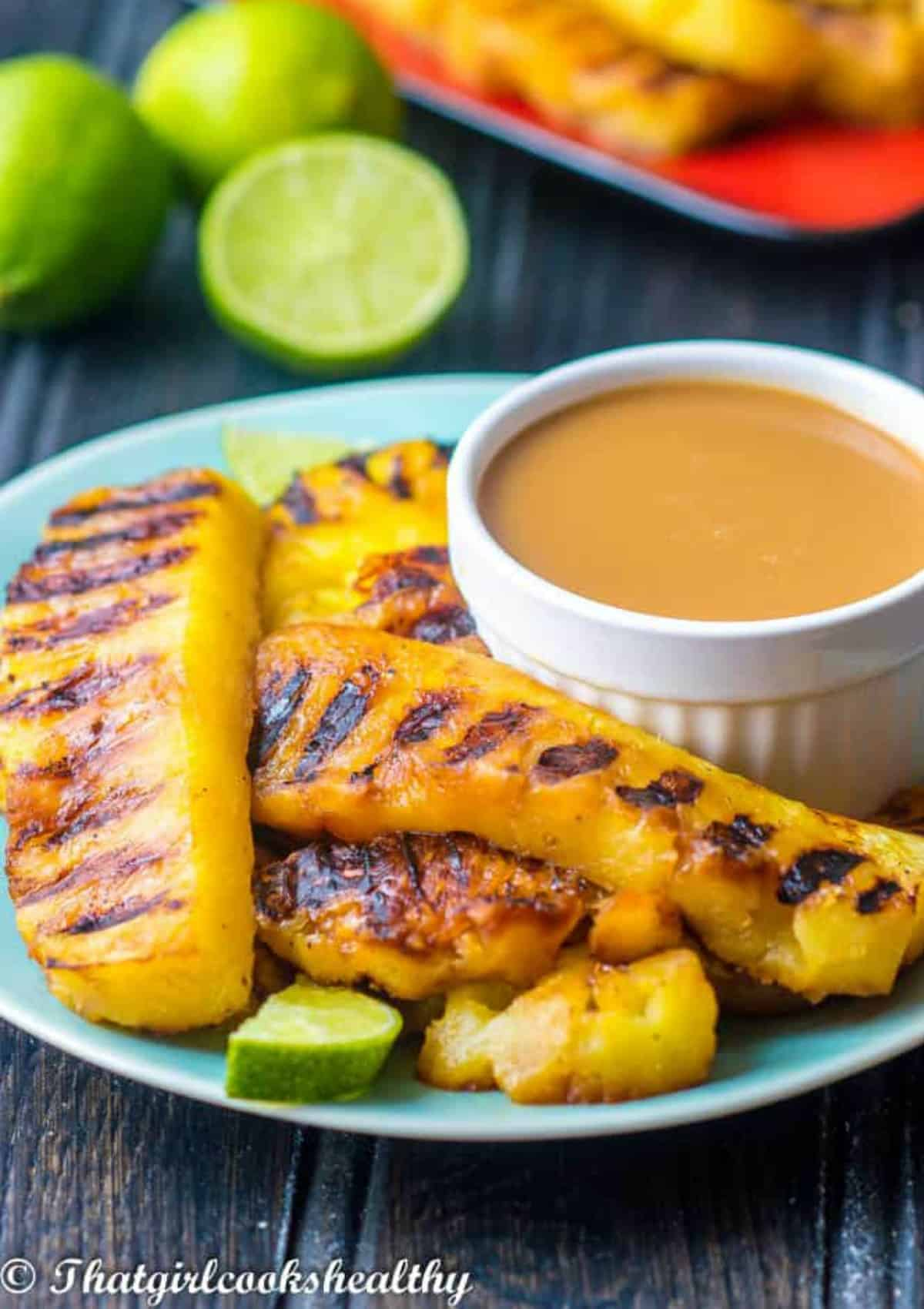 grilled pineapple with dip