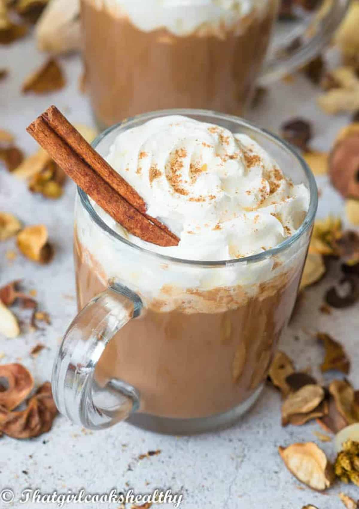 Cream topping on hot chocolate