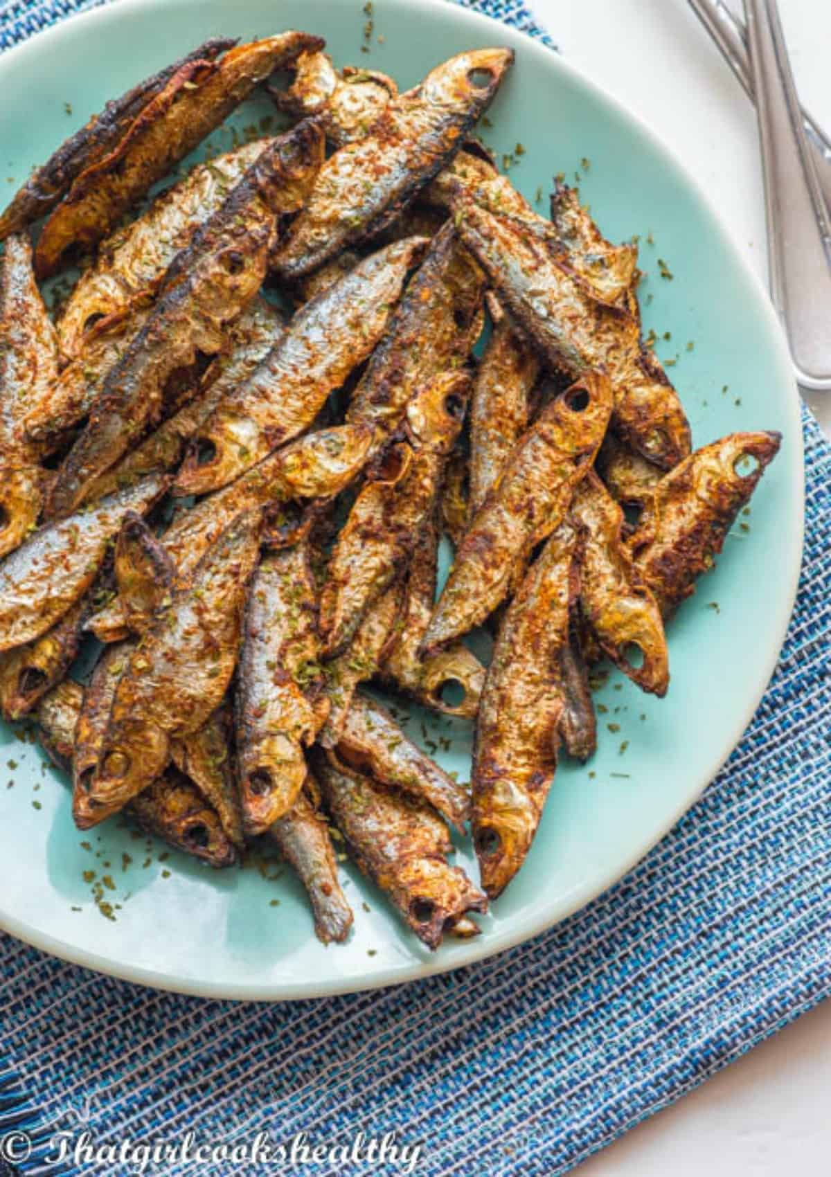 Close up of the sprats