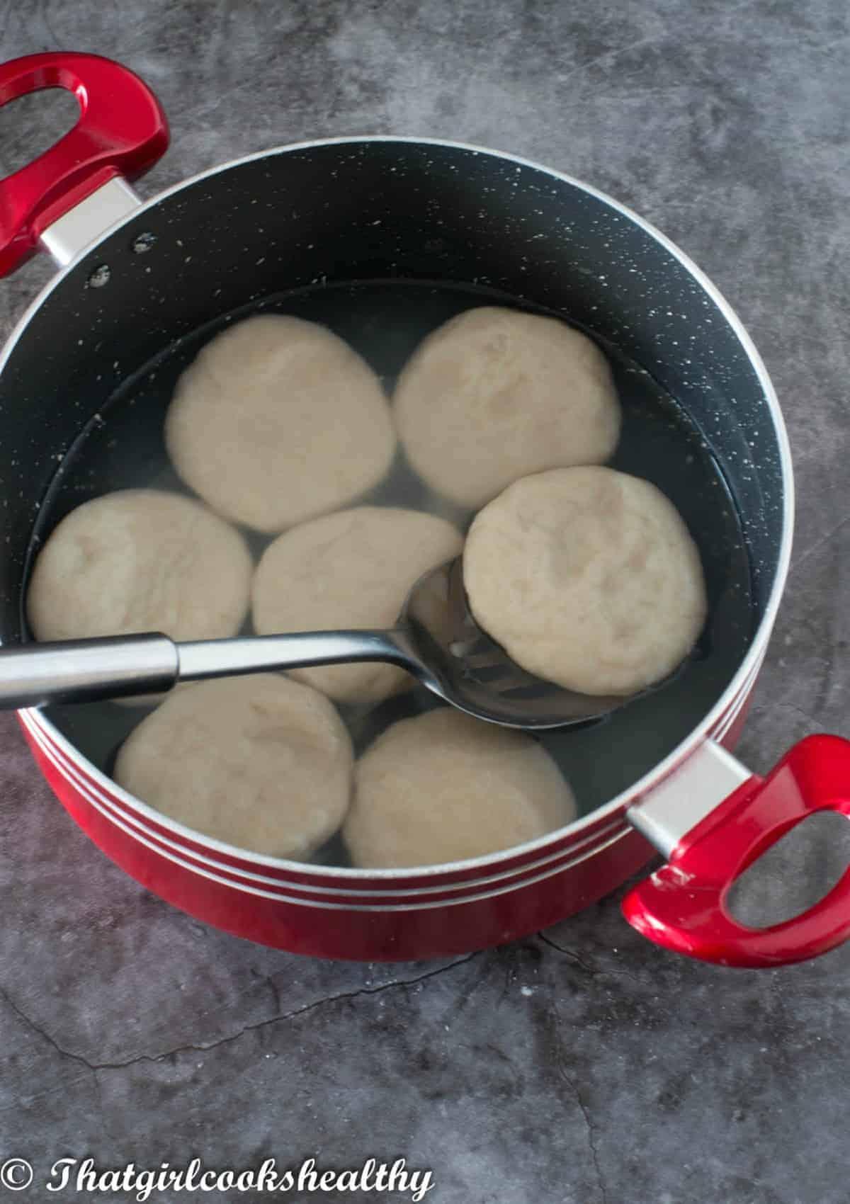 dumplings in a pot
