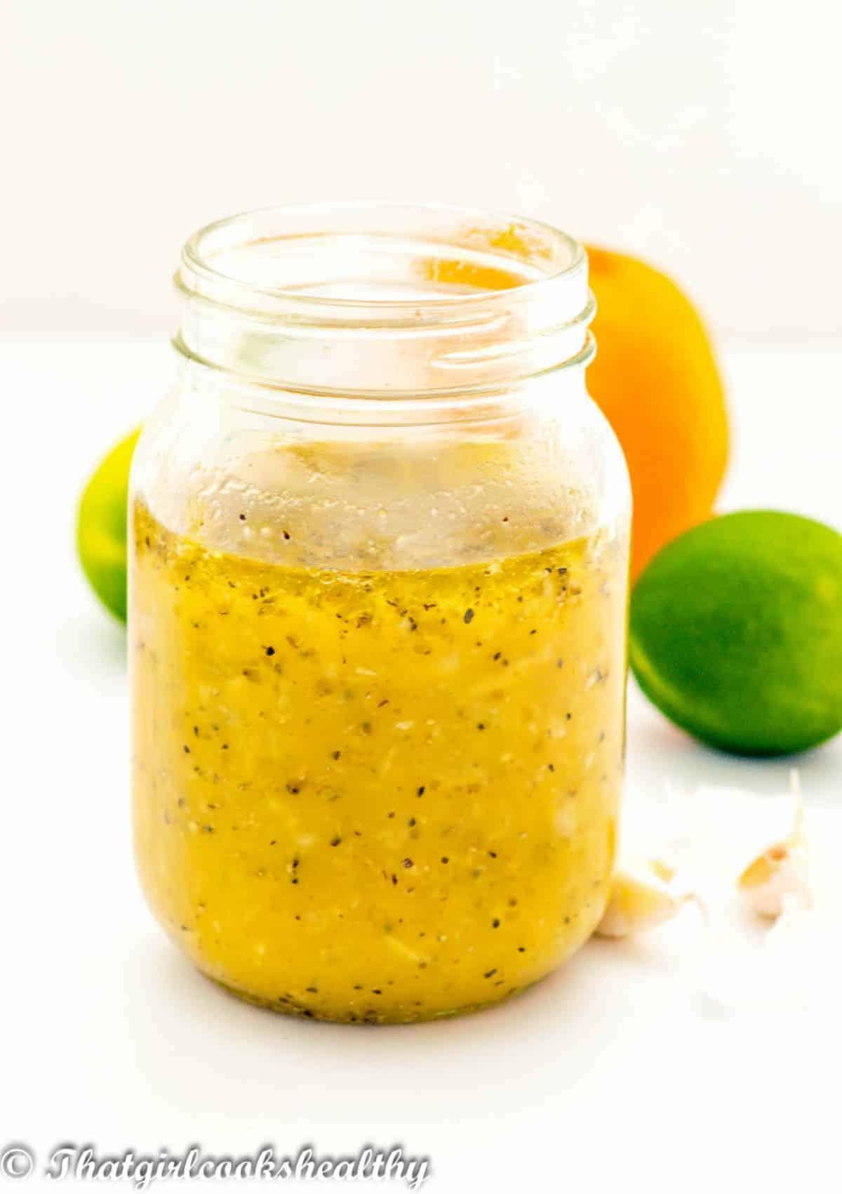 yellow marinate in jar