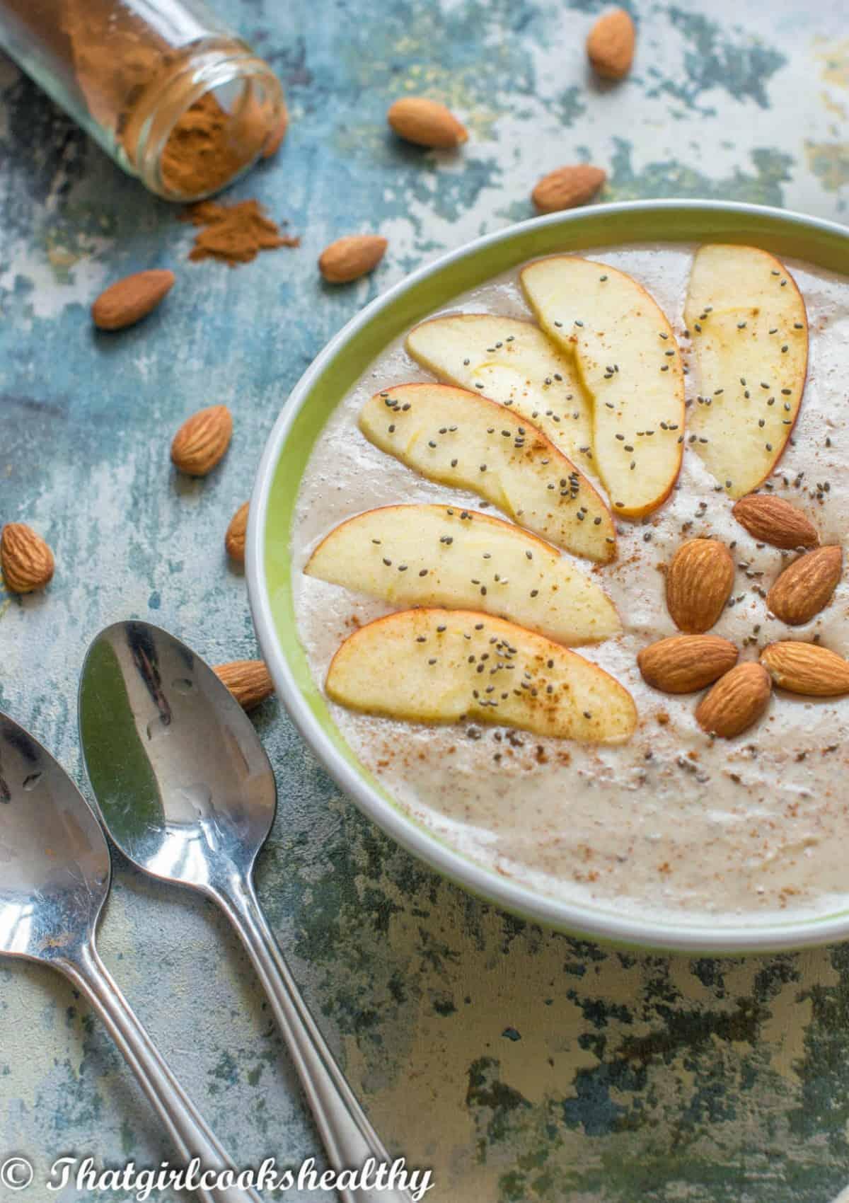 porridge with two spoons